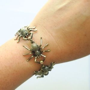 Jewelry - Pretty Spider Bracelet Custom Made Silver Goth